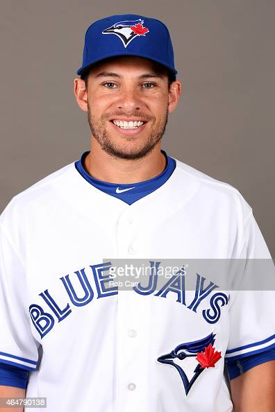 Danny Valencia of the Toronto Blue Jays poses on photo day on February 28 2015 in Dunedin Florida