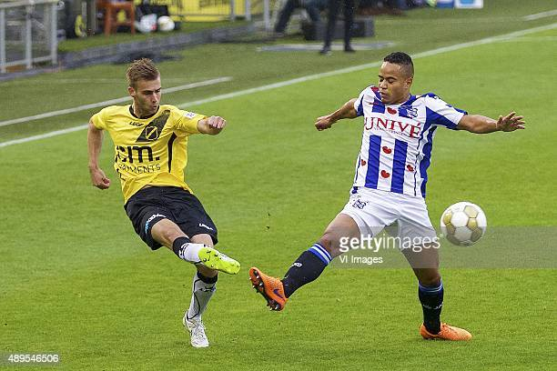 Danny Verbeek of NAC Breda Lucas Bijker of sc Heerenveen during the Dutch Cup match between NAC Breda and SC Heerenveen on September 22 2015 at the...