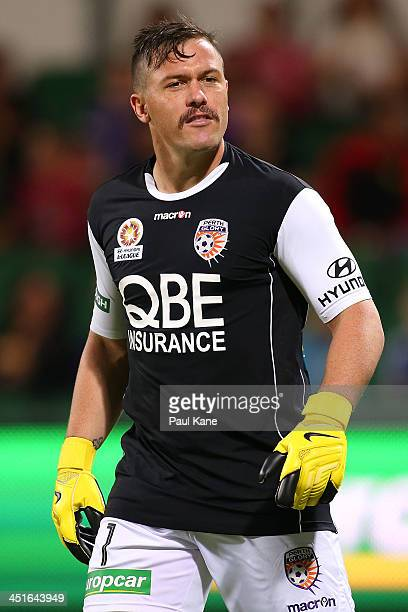 Danny Vukovic of the Glory looks on during the round seven ALeague match between Perth Glory and the Central Coast Mariners at nib Stadium on...