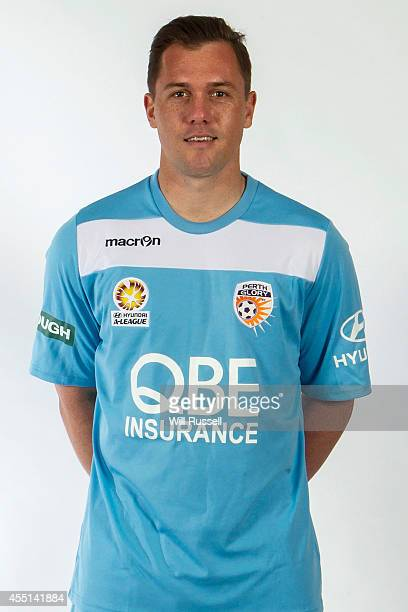 Danny Vukovic poses during the Perth Glory ALeague headshots session at Fox Sports Studios on September 10 2014 in Perth Australia