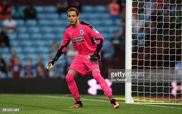 Danny Ward of Huddersfield in action during the Sky Bet Championship match between Aston Villa and Huddersfield Town at Villa Park on August 16 2016...