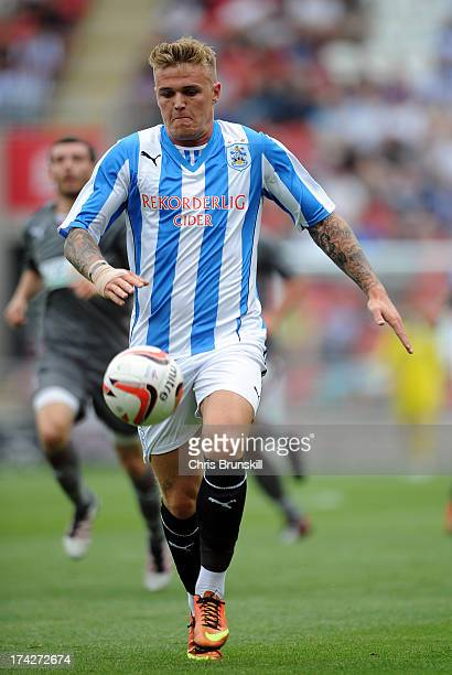 Danny Ward of Huddersfield Town in action during the pre season friendly match between Rotherham United and Huddersfield Town at The New York Stadium...