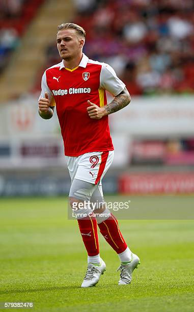 Danny Ward of Rotherham United during the PreSeason Friendly match between Rotherham United and Sunderland at the AESSEAL New York Stadium on July 23...