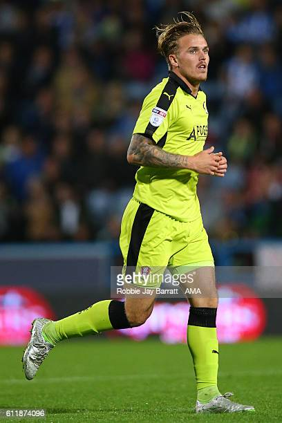 Danny Ward of Rotherham United during the Sky Bet Championship match between Huddersfield Town and Rotherham United at Galpharm Stadium on September...