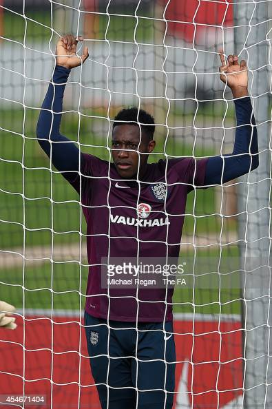 Danny Welbeck looks on during the England training session at St Georges Park on September 5 2014 in BurtonuponTrent England