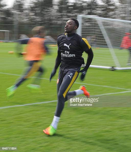 Danny Welbeck of Arsenal during a training session at London Colney on March 1 2017 in St Albans England