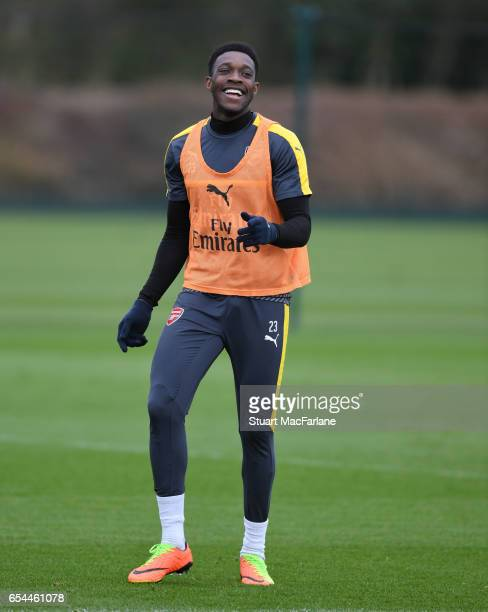 Danny Welbeck of Arsenal during a training session at London Colney on March 17 2017 in St Albans England
