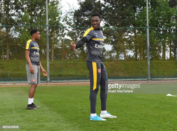 Danny Welbeck of Arsenal during a training session at London Colney on May 20 2017 in St Albans England