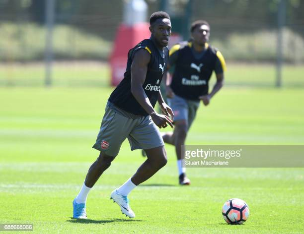 Danny Welbeck of Arsenal during a training session at London Colney on May 26 2017 in St Albans England