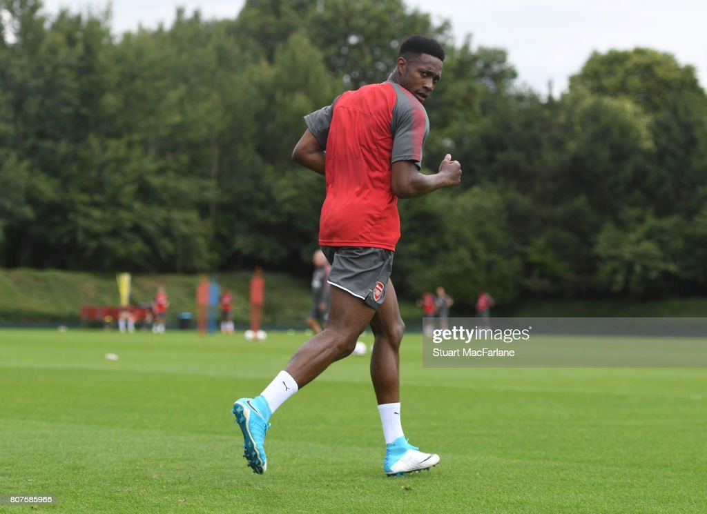 Danny Welbeck of Arsenal during a training session at London Colney on July 4, 2017 in St Albans, England.