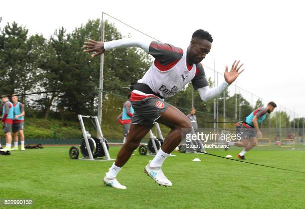 Danny Welbeck of Arsenal during a training session at London Colney on July 26 2017 in St Albans England