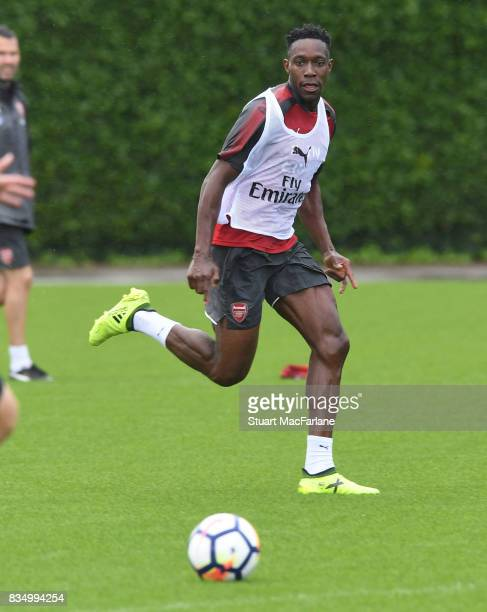 Danny Welbeck of Arsenal during a training session at London Colney on August 18 2017 in St Albans England