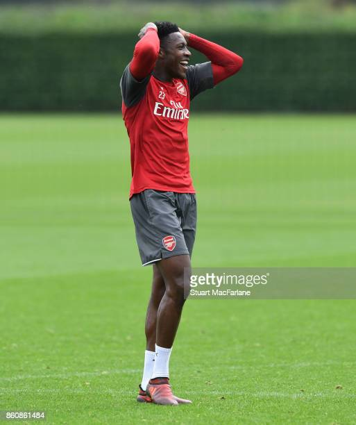Danny Welbeck of Arsenal during a training session at London Colney on October 13 2017 in St Albans England