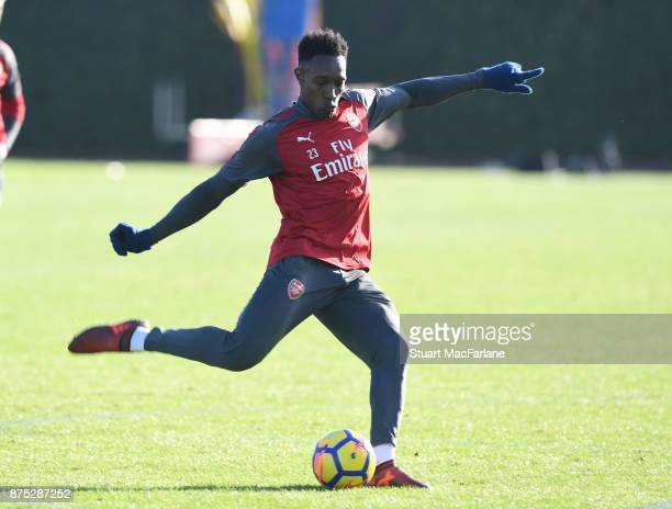 Danny Welbeck of Arsenal during a training session at London Colney on November 17 2017 in St Albans England