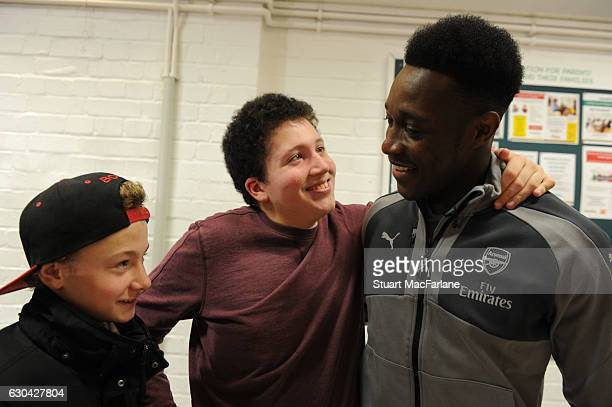 Danny Welbeck of Arsenal during a visit to charity Centre 404 on December 22 2016 in London England