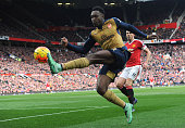 Danny Welbeck of Arsenal during the Barclays Premier League match between Manchester United and Arsenal at Old Trafford on February 28 2016 in...