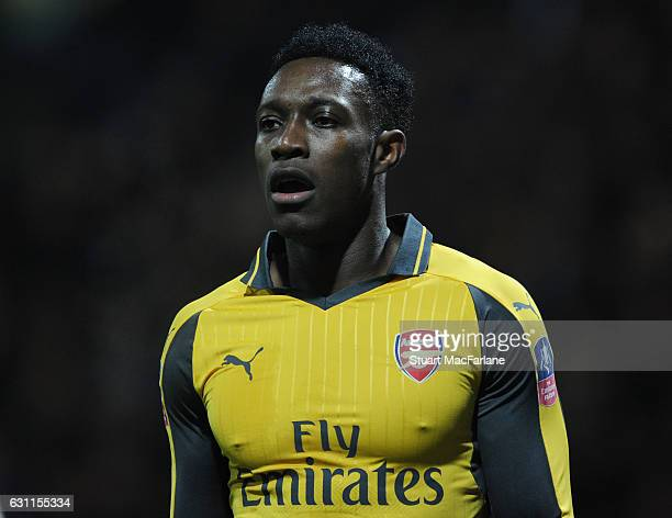 Danny Welbeck of Arsenal during the Emirates FA Cup Third Round match between Preston North End and Arsenal at Deepdale on January 7 2017 in Preston...