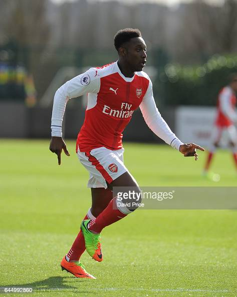 Danny Welbeck of Arsenal during the match between Arsenal U23 and Chelsea U23 at London Colney on February 24 2017 in St Albans England