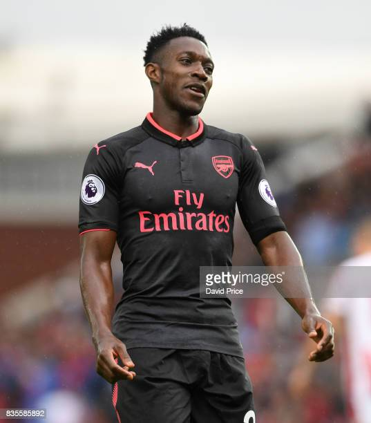 Danny Welbeck of Arsenal during the Premier League match between Stoke City and Arsenal at Bet365 Stadium on August 19 2017 in Stoke on Trent England