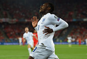 Danny Welbeck of England celebrates as he scores their first goal during the UEFA EURO 2016 Group E qualifying match between Switzerland and England...