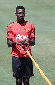 Danny Welbeck of Manchester United in action during a first team training session as part of their preseason tour of the United States on July 21...