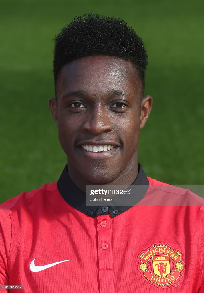 <a gi-track='captionPersonalityLinkClicked' href=/galleries/search?phrase=Danny+Welbeck&family=editorial&specificpeople=4223930 ng-click='$event.stopPropagation()'>Danny Welbeck</a> of Manchester United poses at the annual club photocall at Old Trafford on September 26, 2013 in Manchester, England.