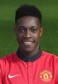 Danny Welbeck of Manchester United poses at the annual club photocall at Old Trafford on September 26 2013 in Manchester England