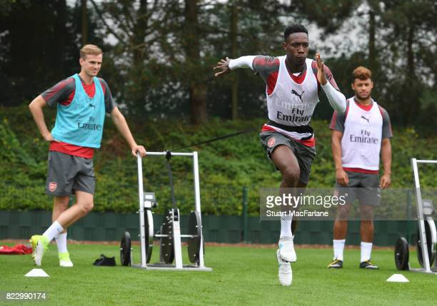 Danny Wellbeck of Arsenal during a training session at London Colney on July 26 2017 in St Albans England