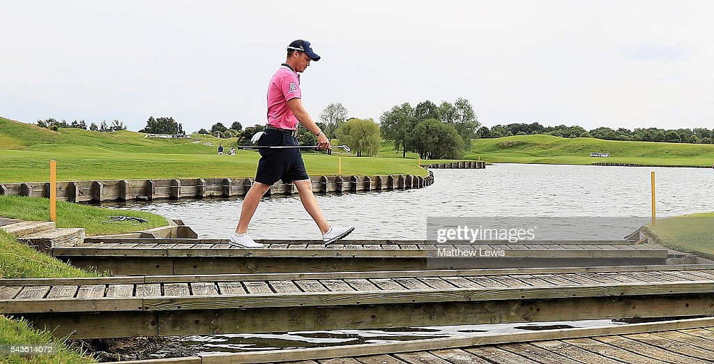 <a gi-track='captionPersonalityLinkClicked' href=/galleries/search?phrase=Danny+Willett&family=editorial&specificpeople=4488861 ng-click='$event.stopPropagation()'>Danny Willett</a> of England in action during a pro-am round ahead of the 100th Open de France at Le Golf National on June 29, 2016 in Paris, France.