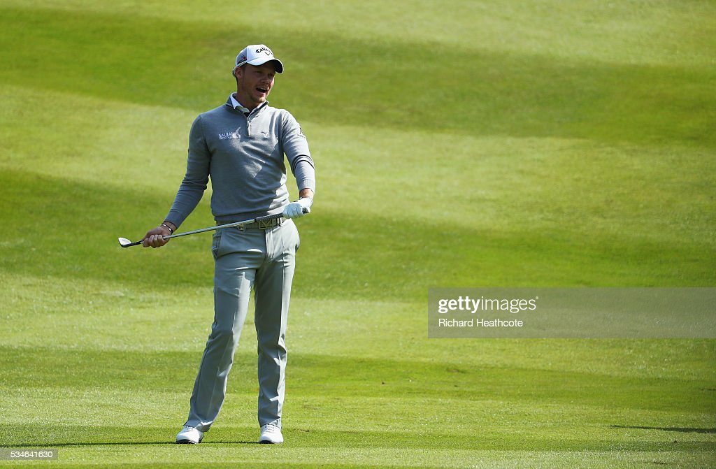 <a gi-track='captionPersonalityLinkClicked' href=/galleries/search?phrase=Danny+Willett&family=editorial&specificpeople=4488861 ng-click='$event.stopPropagation()'>Danny Willett</a> of England looks down the 7th hole during day two of the BMW PGA Championship at Wentworth on May 27, 2016 in Virginia Water, England.
