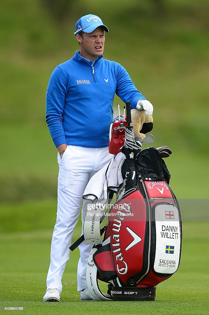 <a gi-track='captionPersonalityLinkClicked' href=/galleries/search?phrase=Danny+Willett&family=editorial&specificpeople=4488861 ng-click='$event.stopPropagation()'>Danny Willett</a> of England looks on during the first round of the 100th Open de France at Le Golf National on June 30, 2016 in Paris, France.