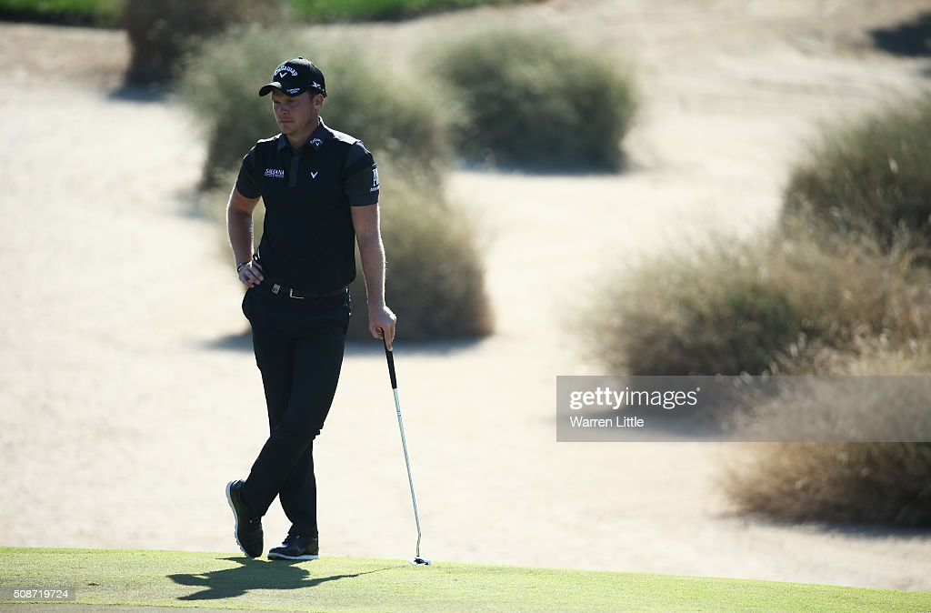 <a gi-track='captionPersonalityLinkClicked' href=/galleries/search?phrase=Danny+Willett&family=editorial&specificpeople=4488861 ng-click='$event.stopPropagation()'>Danny Willett</a> of England looks on from the 11th green during the third round of the Omega Dubai Desert Classic at the Emirates Golf Club on February 6, 2016 in Dubai, United Arab Emirates.