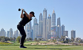Danny Willett of England on the 8th tee during the third round of the Omega Dubai Desert Classic on the Majlis course at the Emirates Golf Club on...