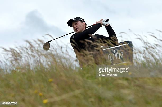 Danny Willett of England plays a provisional on the 6th tee during the second round of the 144th Open Championship at The Old Course on July 17 2015...