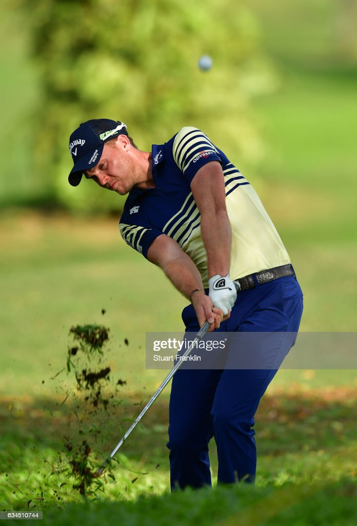 Danny Willett of England plays a shot during Day Two of the Maybank Championship Malaysia at Saujana Golf Club on February 10, 2017 in Kuala Lumpur, Malaysia.