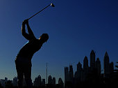 TOPSHOT Danny Willett of England plays a shot during the 2016 Dubai Desert Classic at the Emirates Golf Club in Dubai on February 7 2016 / AFP /...