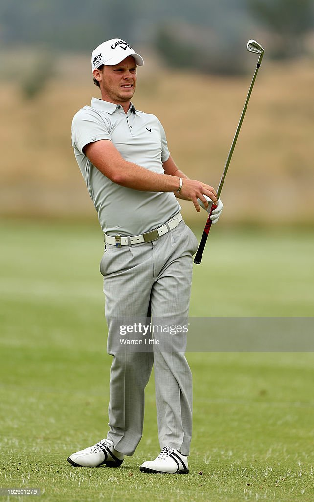 Danny Willett of England plays his second shot into the fourth green during the second round of the Tshwane Open at Copperleaf Golf & Country Estate on March 1, 2013 in Centurion, South Africa.