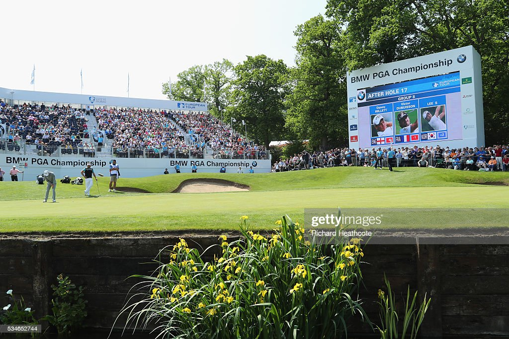 <a gi-track='captionPersonalityLinkClicked' href=/galleries/search?phrase=Danny+Willett&family=editorial&specificpeople=4488861 ng-click='$event.stopPropagation()'>Danny Willett</a> of England putts on the 18th green during day two of the BMW PGA Championship at Wentworth on May 27, 2016 in Virginia Water, England.