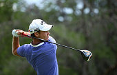 Danny Willett of England tee's off at the 2nd during the final round of the Nedbank Golf Challenge at the Gary Player Country Club on December 7 2014...