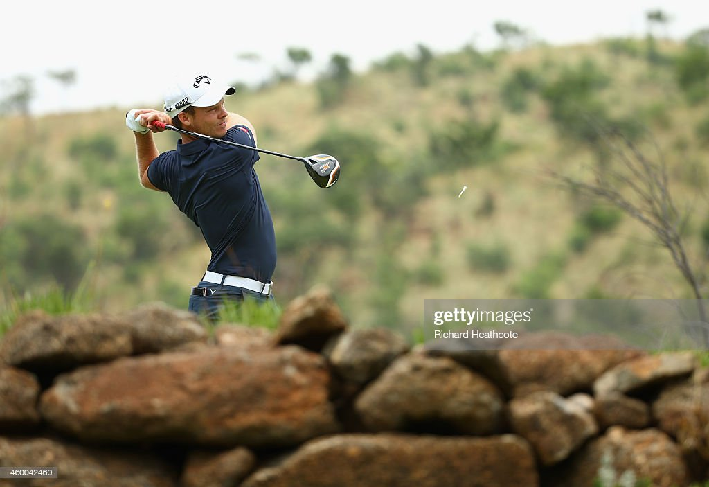 Danny Willett of England tee's off at the 5th during the third round of the Nedbank Golf Challenge at the Gary Player Country Club on December 6 2014...