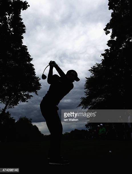 Danny Willett of England tees off during the ProAm ahead of the BMW PGA Championship at Wentworth on May 20 2015 in Virginia Water England