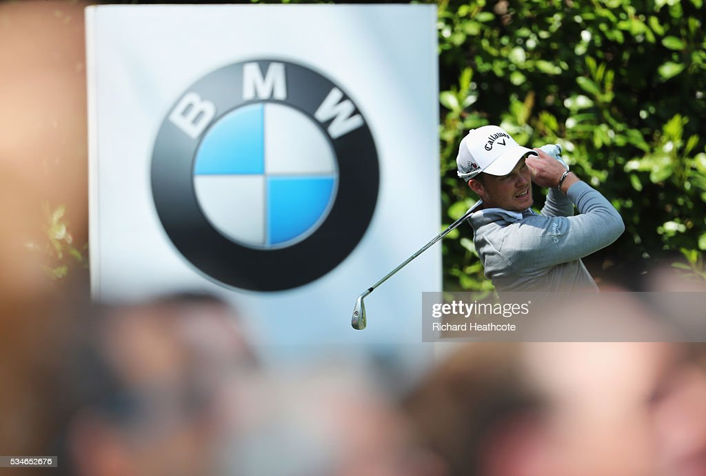<a gi-track='captionPersonalityLinkClicked' href=/galleries/search?phrase=Danny+Willett&family=editorial&specificpeople=4488861 ng-click='$event.stopPropagation()'>Danny Willett</a> of England tees off on the 16th hole during day two of the BMW PGA Championship at Wentworth on May 27, 2016 in Virginia Water, England.