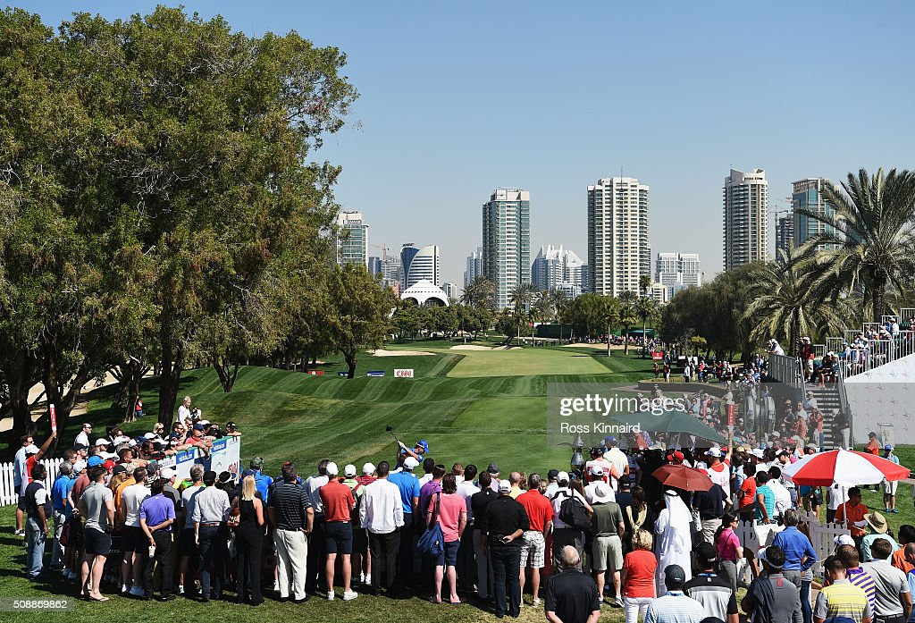 <a gi-track='captionPersonalityLinkClicked' href=/galleries/search?phrase=Danny+Willett&family=editorial&specificpeople=4488861 ng-click='$event.stopPropagation()'>Danny Willett</a> of England tees off on the 1st hole during the final round of the Omega Dubai Desert Classic at the Emirates Golf Club on February 7, 2016 in Dubai, United Arab Emirates.