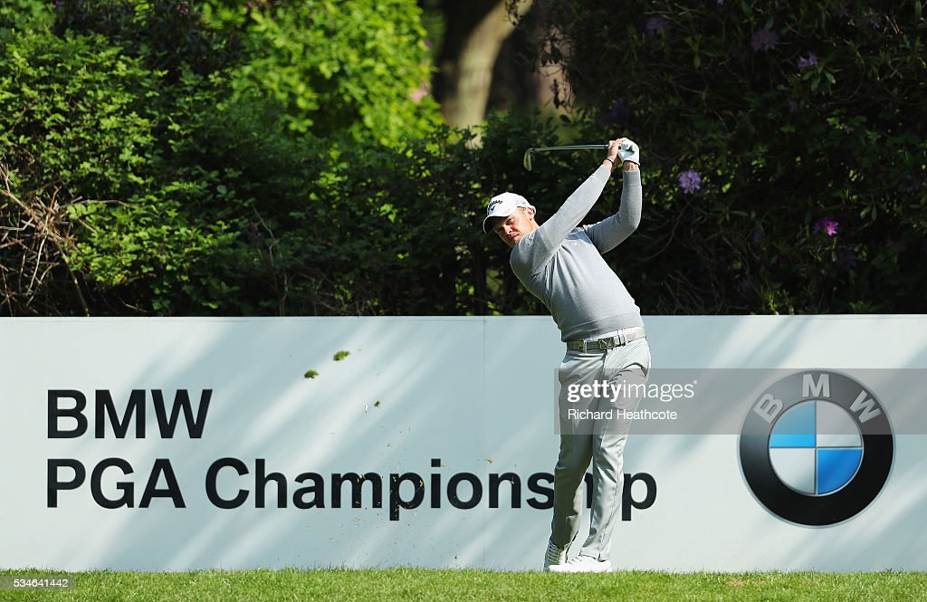 <a gi-track='captionPersonalityLinkClicked' href=/galleries/search?phrase=Danny+Willett&family=editorial&specificpeople=4488861 ng-click='$event.stopPropagation()'>Danny Willett</a> of England tees off on the 7th hole during day two of the BMW PGA Championship at Wentworth on May 27, 2016 in Virginia Water, England.