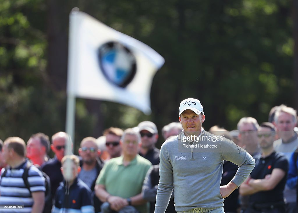 <a gi-track='captionPersonalityLinkClicked' href=/galleries/search?phrase=Danny+Willett&family=editorial&specificpeople=4488861 ng-click='$event.stopPropagation()'>Danny Willett</a> of England waits on the 7th green during day two of the BMW PGA Championship at Wentworth on May 27, 2016 in Virginia Water, England.