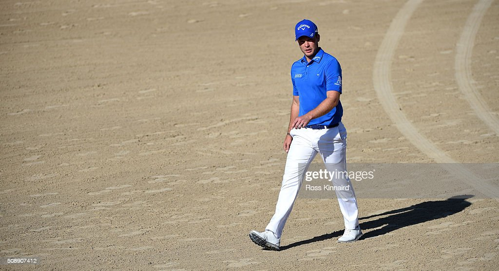 Danny Willett of England walking on the the 14th fairway during the final round of the Omega Dubai Desert Classic on the Majlis Course at the Emirates Golf Club on February 7, 2016 in Dubai, United Arab Emirates.