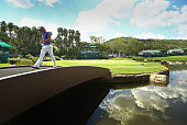 Danny Willett of England walks off the 9th green during the final round of the Nedbank Golf Challenge at the Gary Player Country Club on December 7...