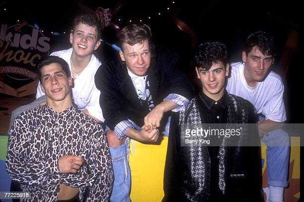 Danny Wood Joe McIntyre Donnie Wahlberg Jordan Knight and Jonathan Knight of New Kids on the Block