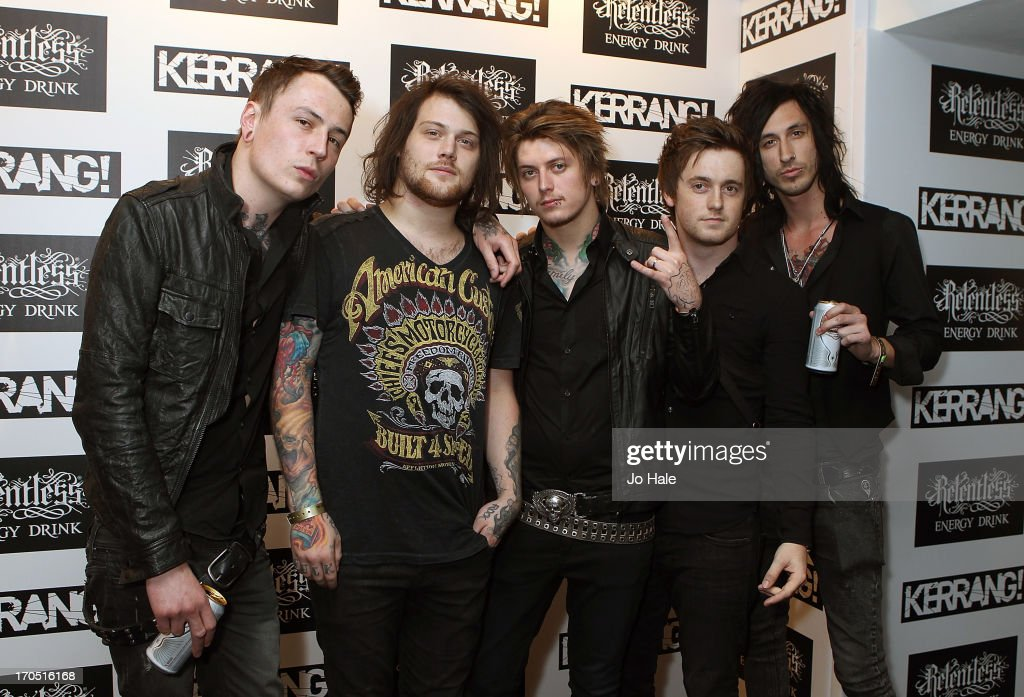Danny Worsnop with his band Asking Alexandria attends The Kerrang! Awards at the Troxy on June 13, 2013 in London, England.