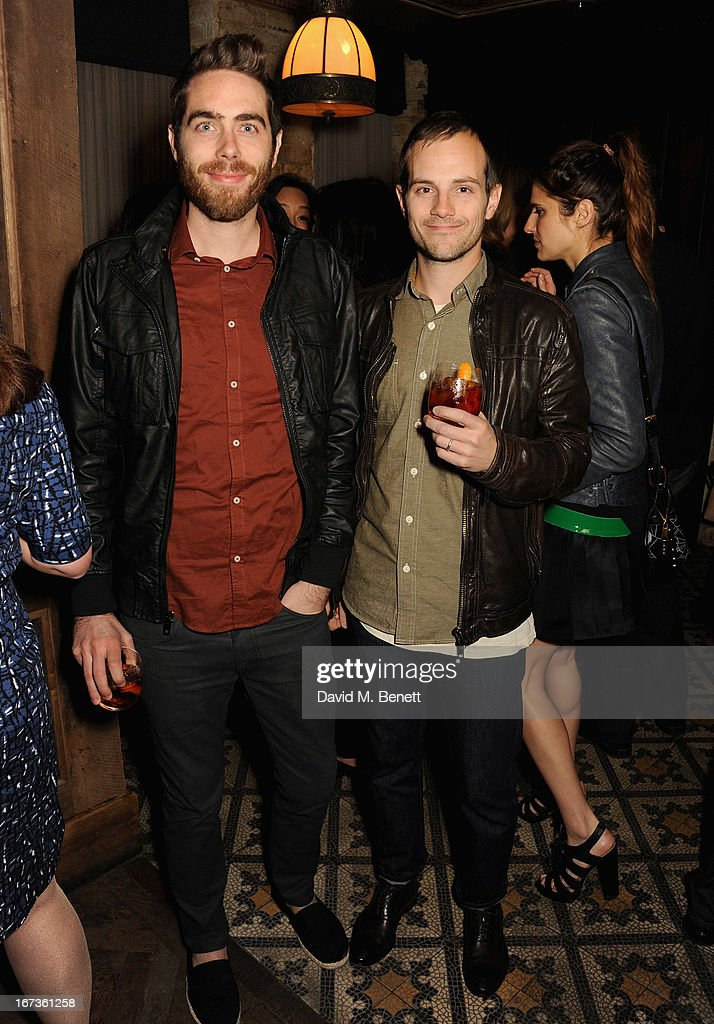 Danny Yourd and Steve Hoover attend Grey Goose hosted Sundance London Filmmaker Dinner at Little House on April 24, 2013 in London, England.
